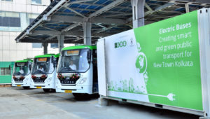Electric Buses running on Streets on Kolkata, Powered by