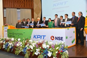 Team KPIT with NSE Executives during Listing Ceremony